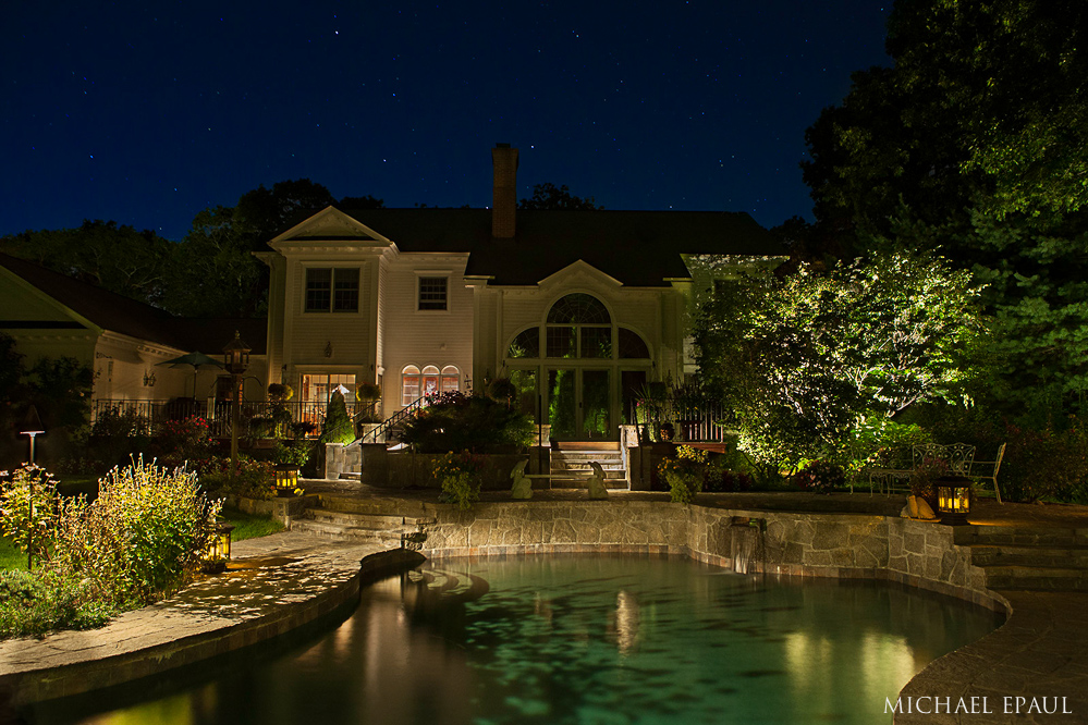 Poolscape and backyard lighting