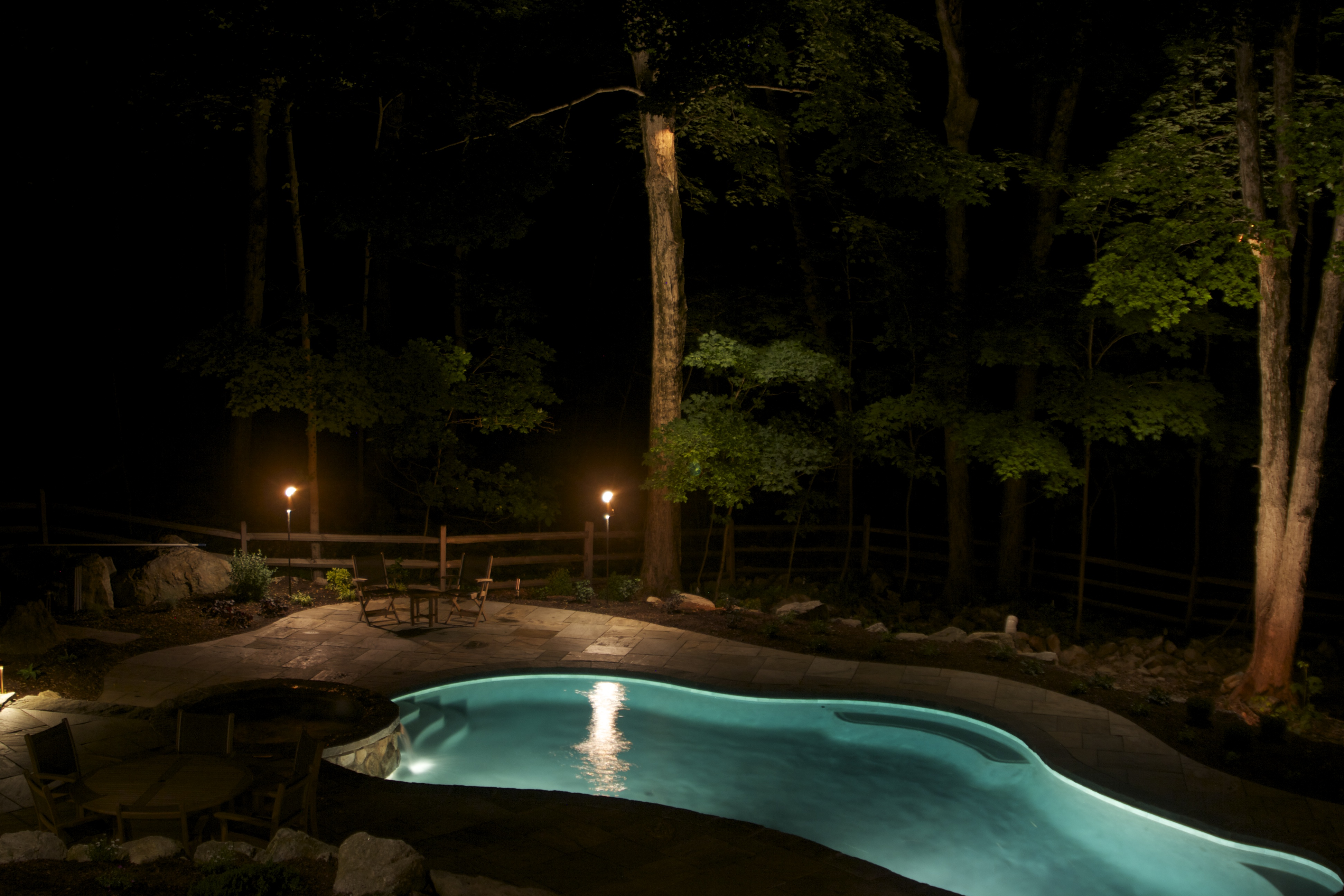 Poolscape lighting