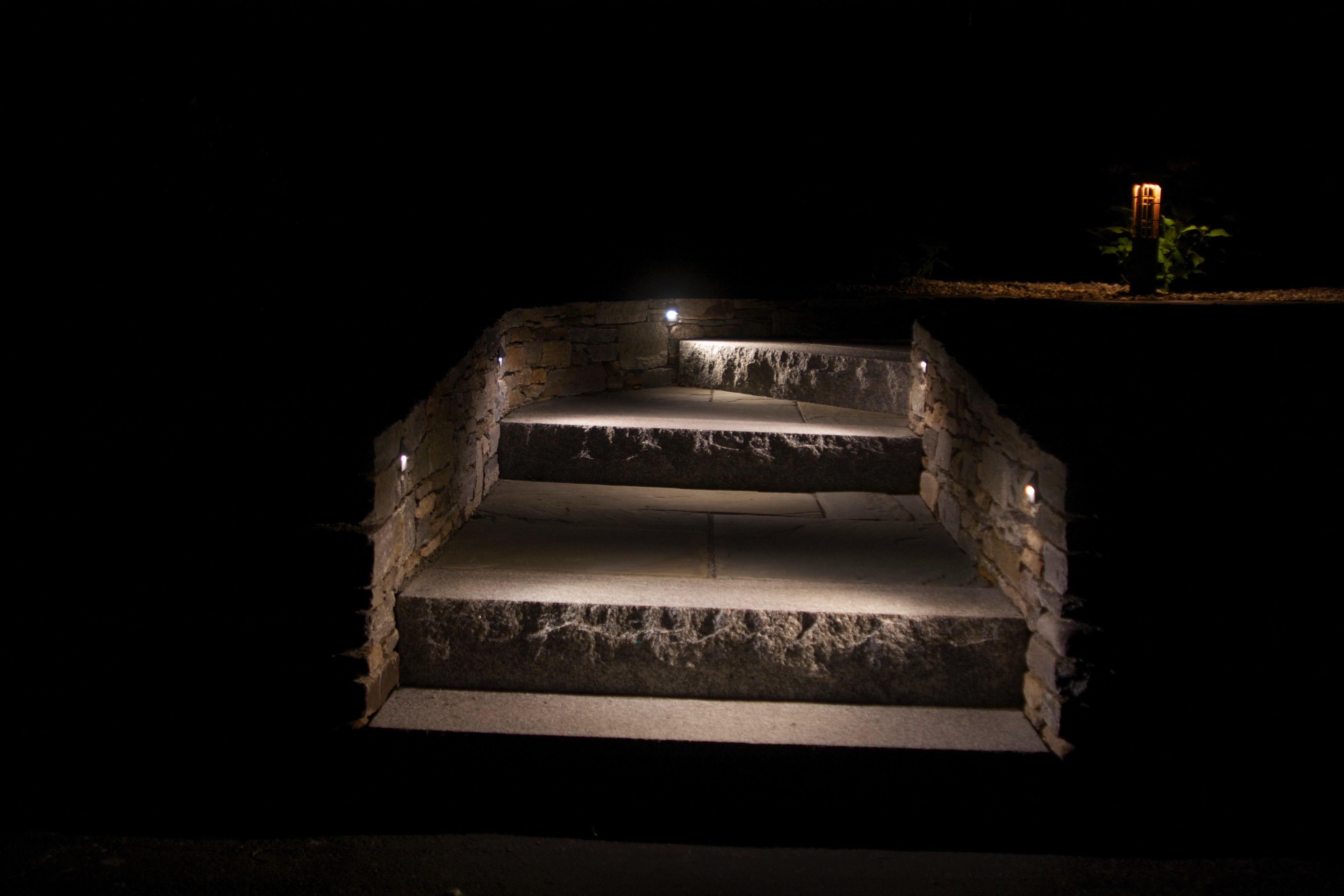 Granite step lighting