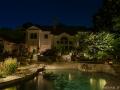 Poolscape and backyard lighting