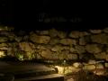 Field stone wall washing